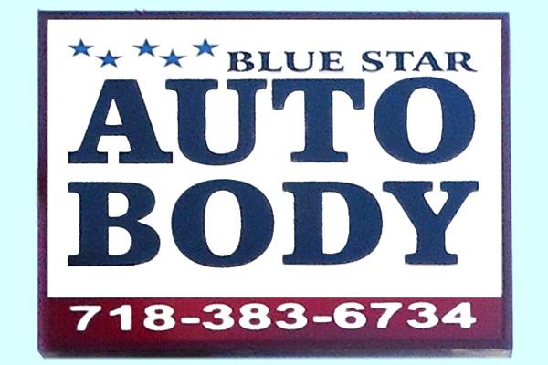 Blue Star Auto Body Sign