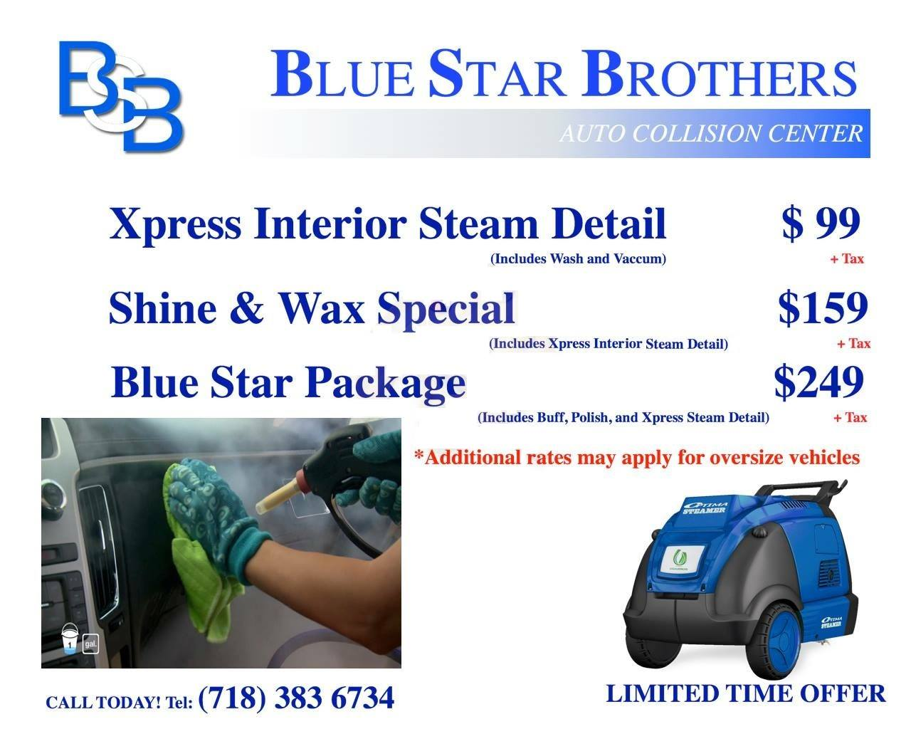 Detailing Special at Blue Star Brothers